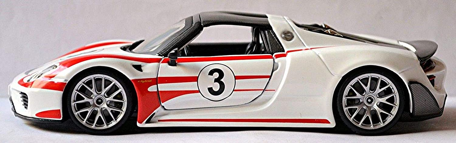 Bburago 1:24 Porsche 918 Weissach Racing Car Vehicle Diecast Model New in Box