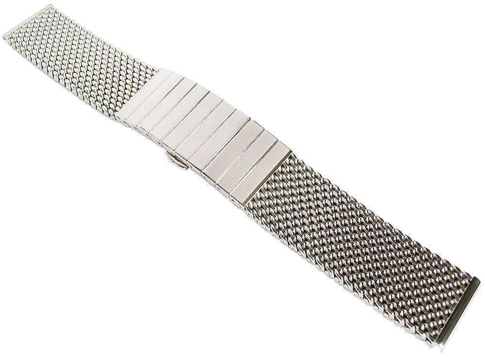 Staib 22mm Polished Heavy Mesh 4.5mm Stainless Steel Watch Band 2793