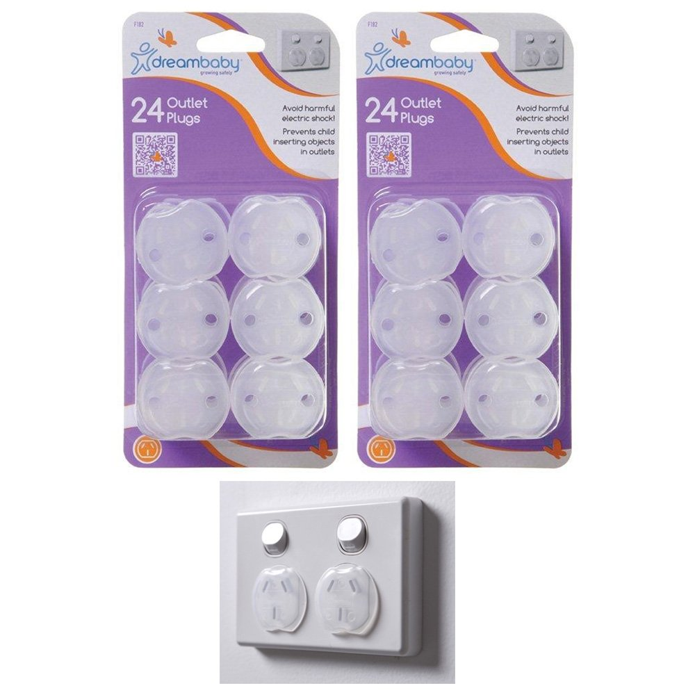 48 Pc Dreambaby Outlet Plugs Home Safety Child Baby Proof Protection Covers Plug by WIVZNYZYB