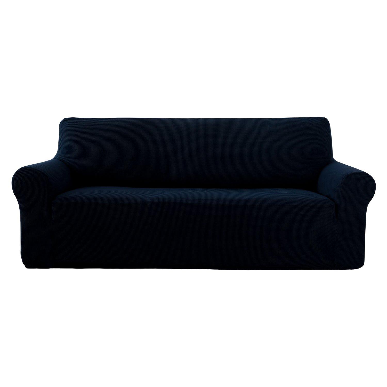 amazon com deconovo navy blue sofa slipcover couch cover fitted rh amazon com Navy Blue Sofa and Loveseat Tan Couch Slipcover