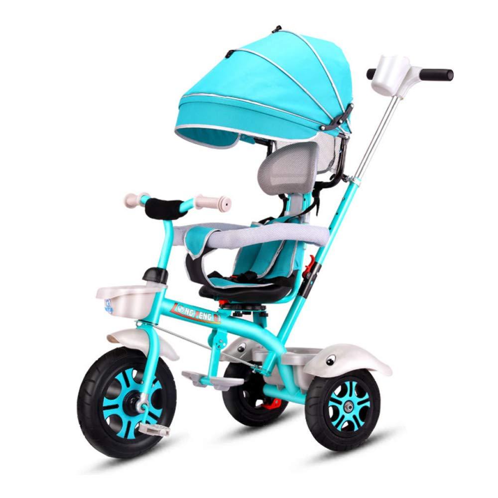 soporte minorista mayorista CHRISTMAD Hat Triciclo para Niños, Bicicleta De 3 3 3 Ruedas para Niños Pequeños, Bicicleta con El Toldo del Manillar De Los Padres, Manija Extraíble 18 Meses - 5 Años 85-120cm, Azul  ventas al por mayor