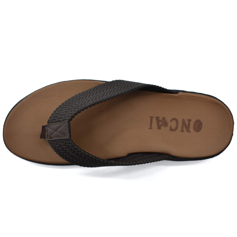 Tongs Hommes Adulte Sandales d/ét/é Pantoufles Brasil Flip Flops Chaussures de Plage Piscine gar/çon
