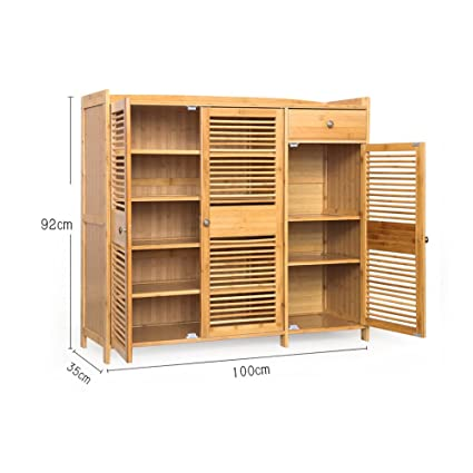 Shoe Rack Ynn Bamboo With Drawer Solid Wood Shoe Cabinet 4 5 Tier