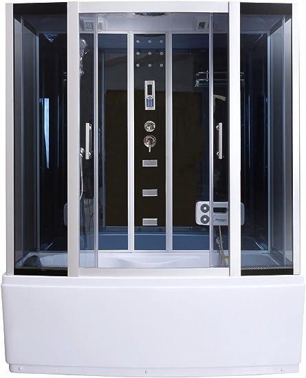 Vapor ducha cabina de ducha bañera ducha de cristal de sauna 3 in1 ...