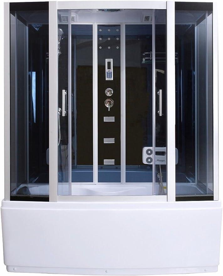 Vapor ducha cabina de ducha bañera ducha de cristal de sauna 3 in1 LXW js613: Amazon.es: Bricolaje y herramientas