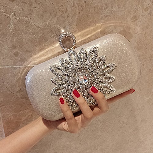 Bags champgn size Clutch Diamond Party Wedding Decoration Bags small Women Evening GAOXIA Handbag Crystals Elegant Women Bridal Sunflower Flower Bag Txt4PwgqgH