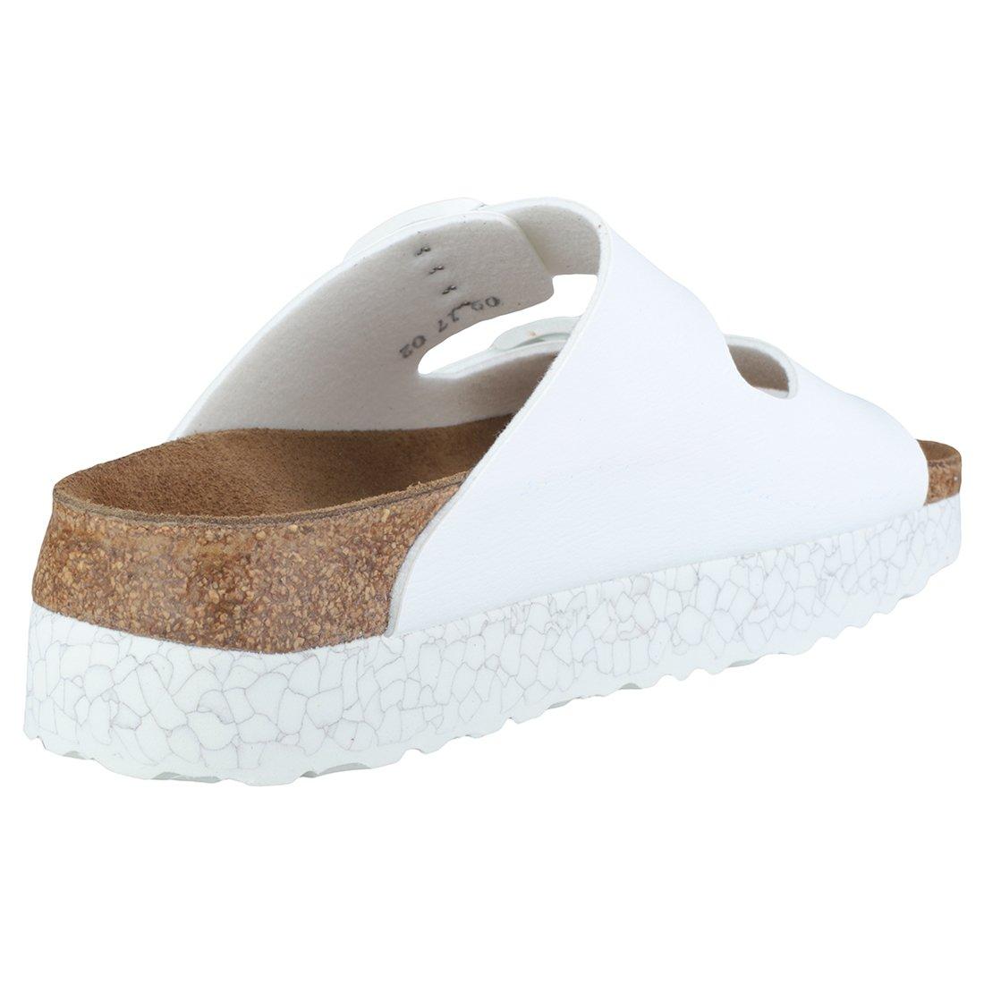 Papillio Monochrome  Arizona, Damen Sandalen Monochrome Papillio Marble Weiß 488f4b