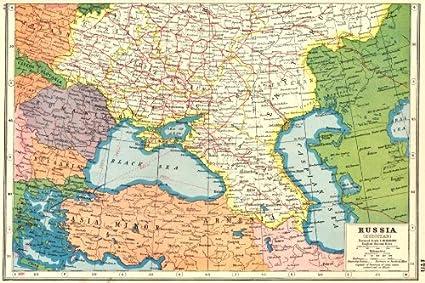 Amazon.com: UKRAINE. Caucasus Romania Turkey Georgia Armenia ...