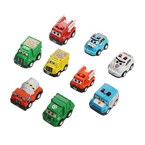 Mini coches juguete Tire de los coches Hacia Atrás Juguetes de Coches Vehículos Set de Construcción