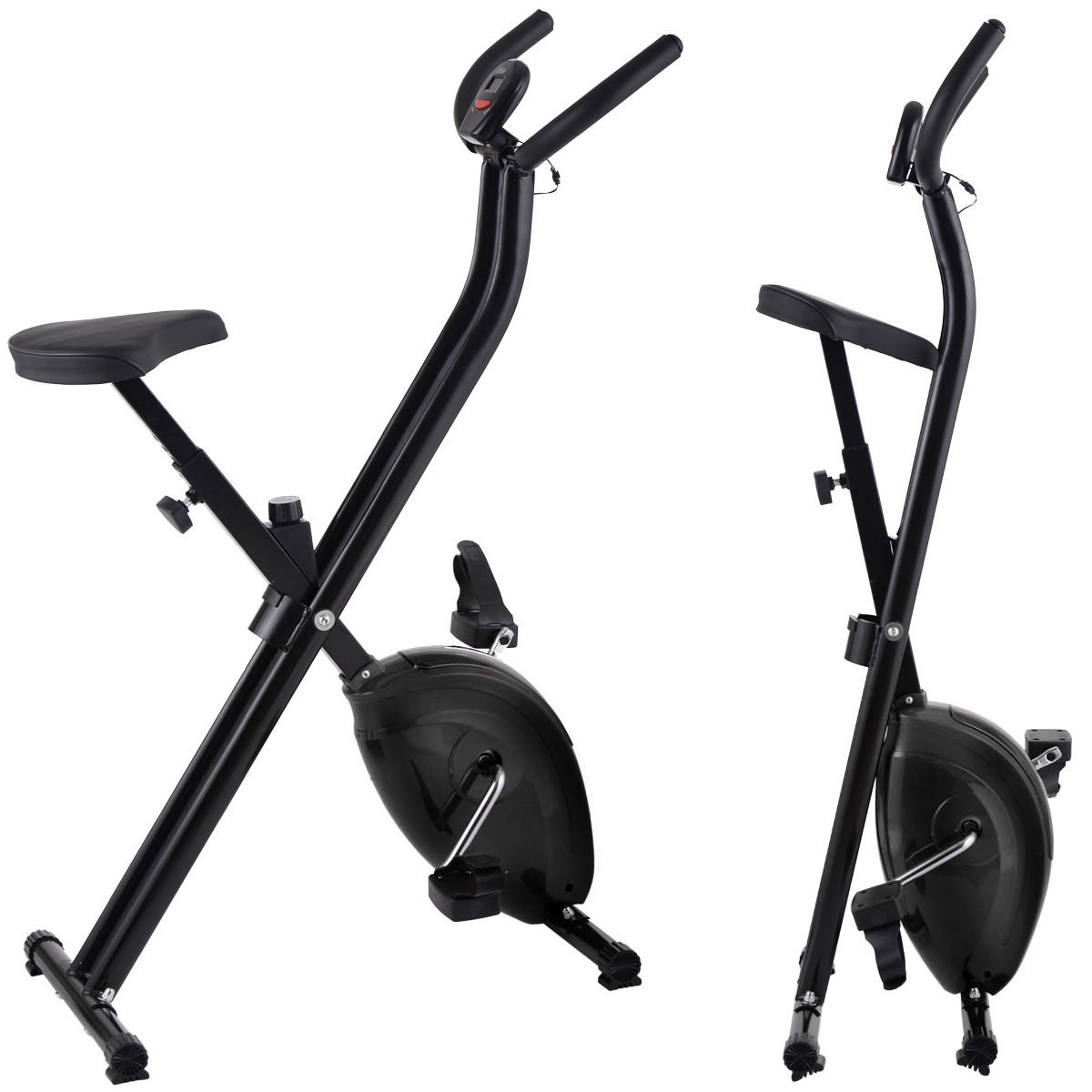 Folding Exercise Bike Home Magnetic Trainer Fitness Stationary Machine New - Black by Eight24hours (Image #7)