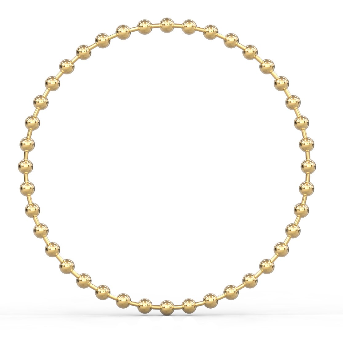 Benevolence LA Rings for Women: Stainless Steel Stacking Ring Soft 14k Gold Ball Chain Pair of Rings for Women Girls Dainty (Size 8)