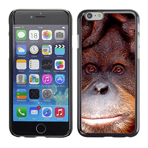 Just Phone Cases Hard plastica indietro Case Custodie Cover pelle protettiva Per // M00128558 Orang Utan Singe Zoo Melbourne // Apple iPhone 6 4.7""