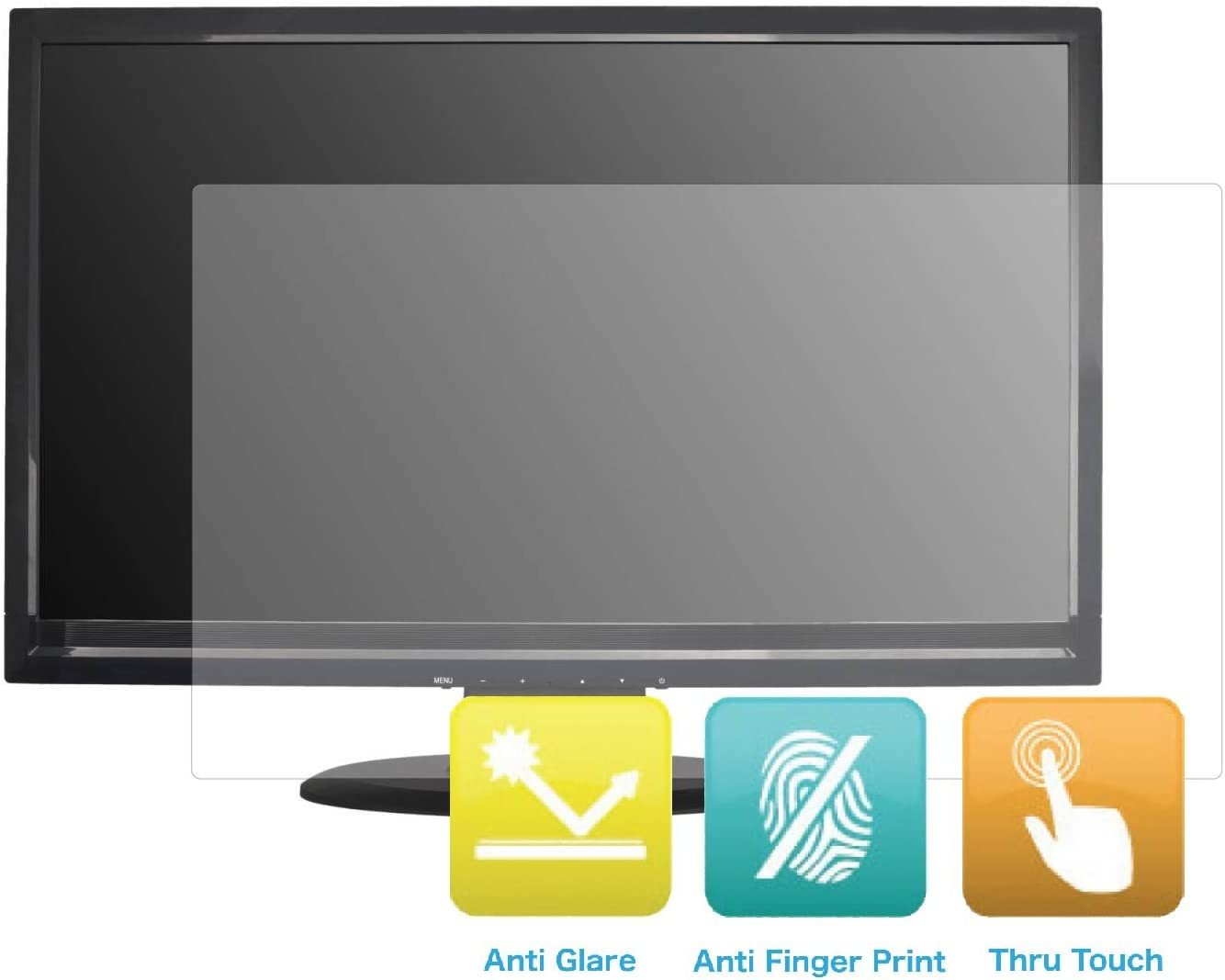 Anti-Glare and Anti Finger Print Screen Protector (3 Pack) for 21.5 Inches Widescreen Desktop Monitor