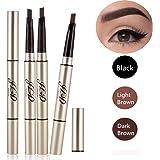 3 Farben Augenbrauenstift/Brauenstifte, Automatisch Wasserdicht EyeBrow Pencil, CIDBEST® Make Up Stift Eyeline Augenbrauenstift, Long Lasting Augenbraue Stift