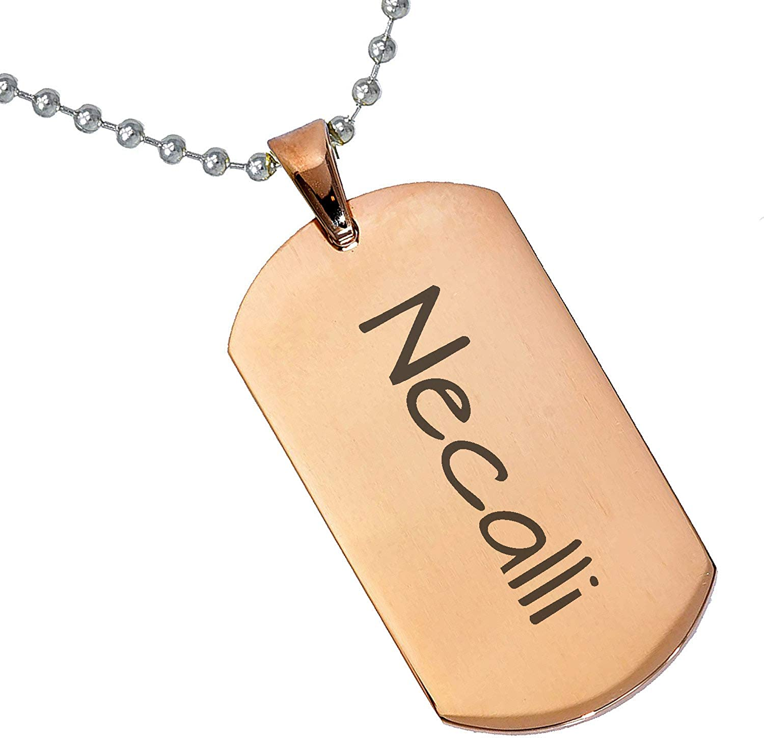 Stainless Steel Silver Gold Black Rose Gold Color Baby Name Necalli Engraved Personalized Gifts For Son Daughter Boyfriend Girlfriend Initial Customizable Pendant Necklace Dog Tags 24 Ball Chain