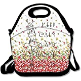 Starogs Keep Calm And Dance On Convenient Lunch Box Tote Bag Rugged Lunchbox