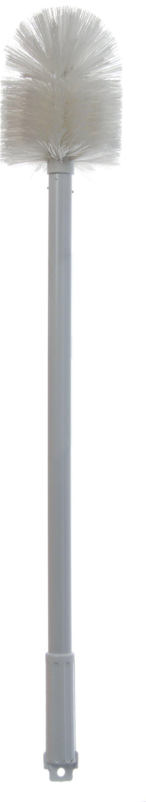 Carlisle 4000802 Sparta Spectrum Multi-Purpose Round Valve and Fitting Brush, Plastic Handle, White Polyester Bristles, 6'' L x 5'' Dia. Brush, 30'' Overall Length (Case of 6) by Carlisle (Image #4)
