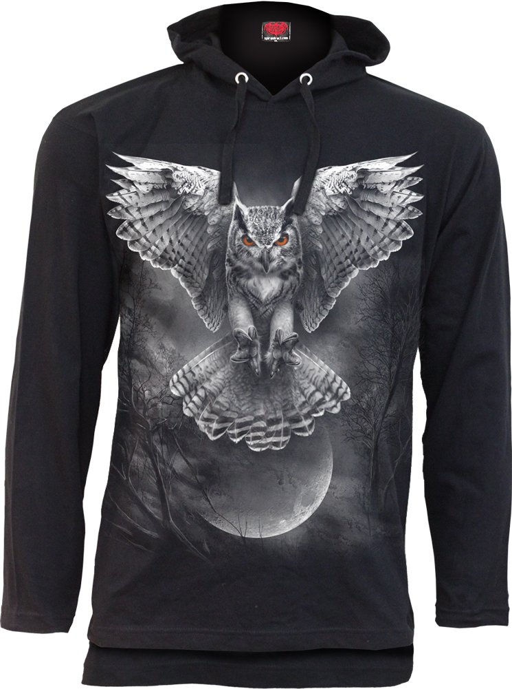 Spiral - Mens - Wings of Wisdom - Fine Cotton Summer Hoody Black - L