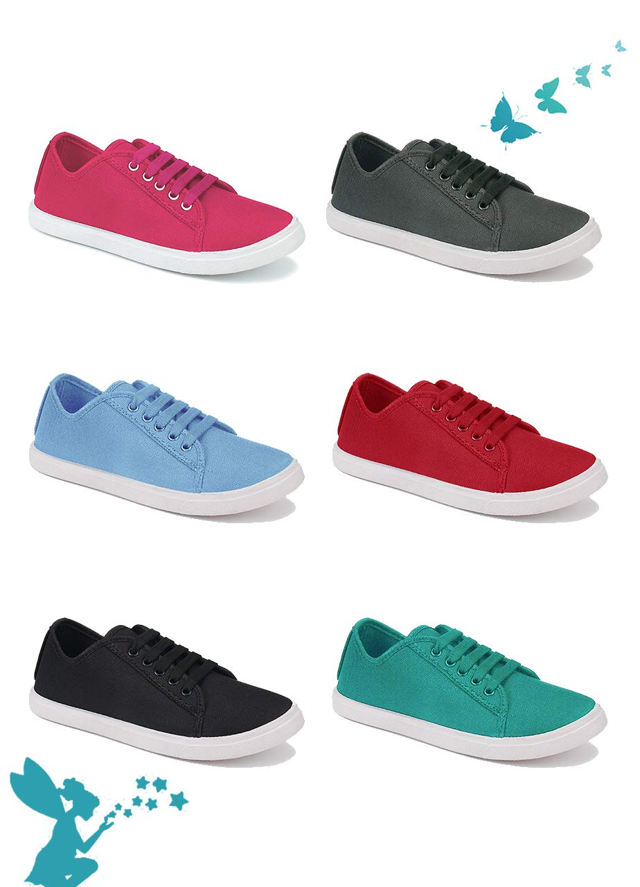 Aura Women Red Canvas Casual Shoes - UK 4 (B07VGX4VRP) Amazon Price History, Amazon Price Tracker