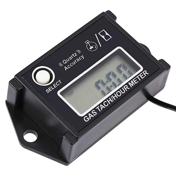 AMZVASO - LCD Digital Tachometer Tach/Hour Meter RPM Tester termometro for 2/4 Stroke Engine Motorcycles tachometer motor - - Amazon.com