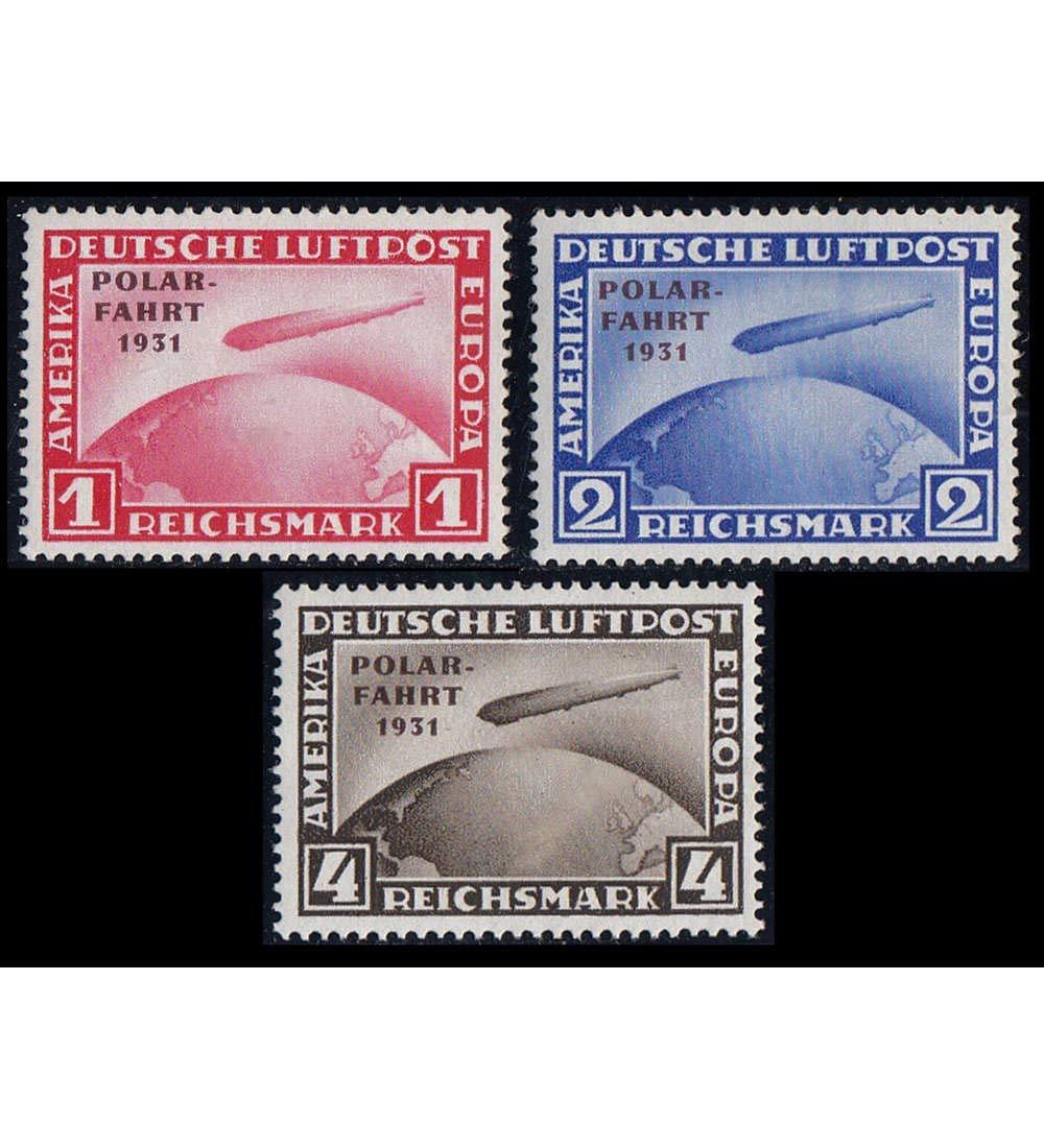 Goldhahn Deutsches Reich Nr. 456-458 postfrisch  Polarfahrt geprüft und signiert Schlegel Briefmarken für Sammler