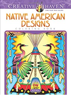 creative haven native american designs coloring book adult coloring - Native American Coloring Book