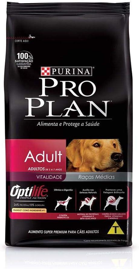 Ração Nestlé Purina ProPlan para Cães Adultos Sabor Frango e Arroz