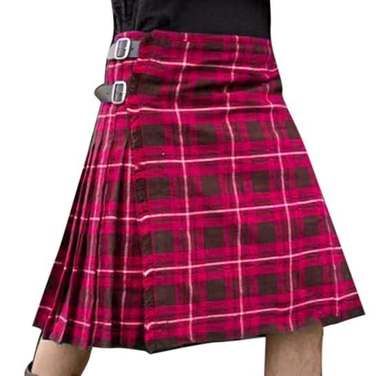 keepmore Falda Highland Kilts Utility Gothic Festival para Hombres ...