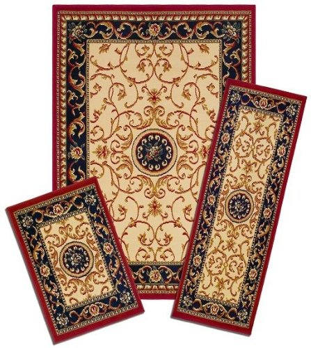 Achim Home Furnishings Capri 3-Piece Rug Set, Wrought Iron Medallion by Achim Home Furnishings