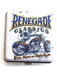Chopper Motor Cycle Renegade Classics Ride Hard Or Stay Home Cigarette Case