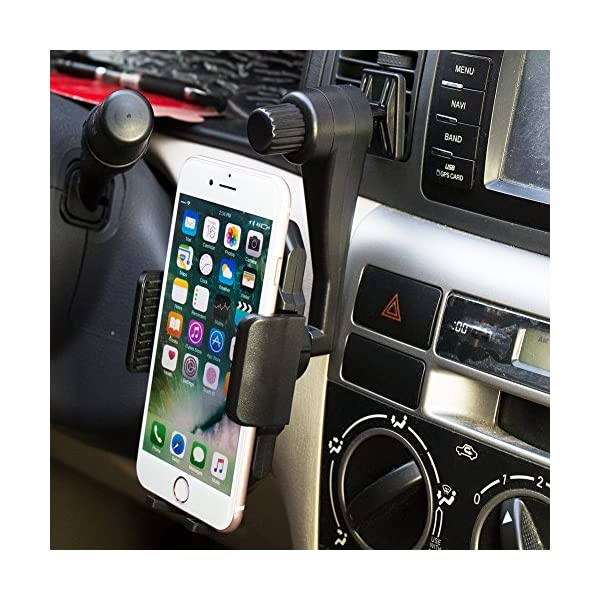 Hands Free Cell Phone Holder For Car Vent Universal Car Air Vent Phone Mount Holder 360 Degree Rotable For Mobile Phone IPhone Samsung Galaxy HTC LG Huawei And More Mobile Phone Black