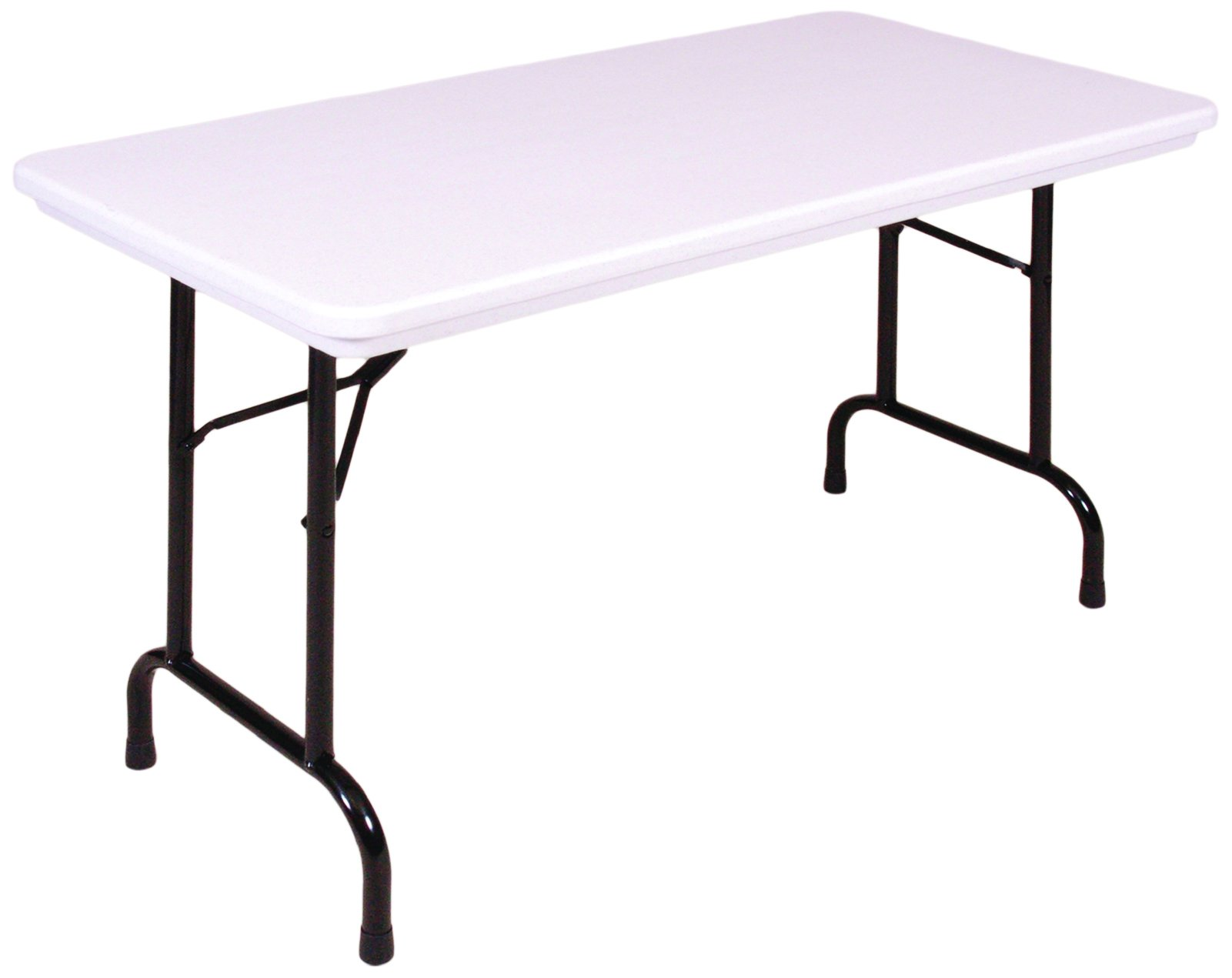 Correll R1872-23 R Series, Blow Molded Plastic Commercial Duty Folding Table, Rectangular, 18'' x 72'', Gray Granite, Custom Built to Order in the USA