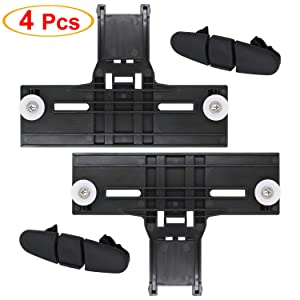 [Latest Version] UPGRADED W10350375 Dishwasher Top Rack Adjuster & W10508950 Dishwasher Stop Track Fit For Whirlpool KitchenAid Kenmore -Enhanced Durability with Steel Screws