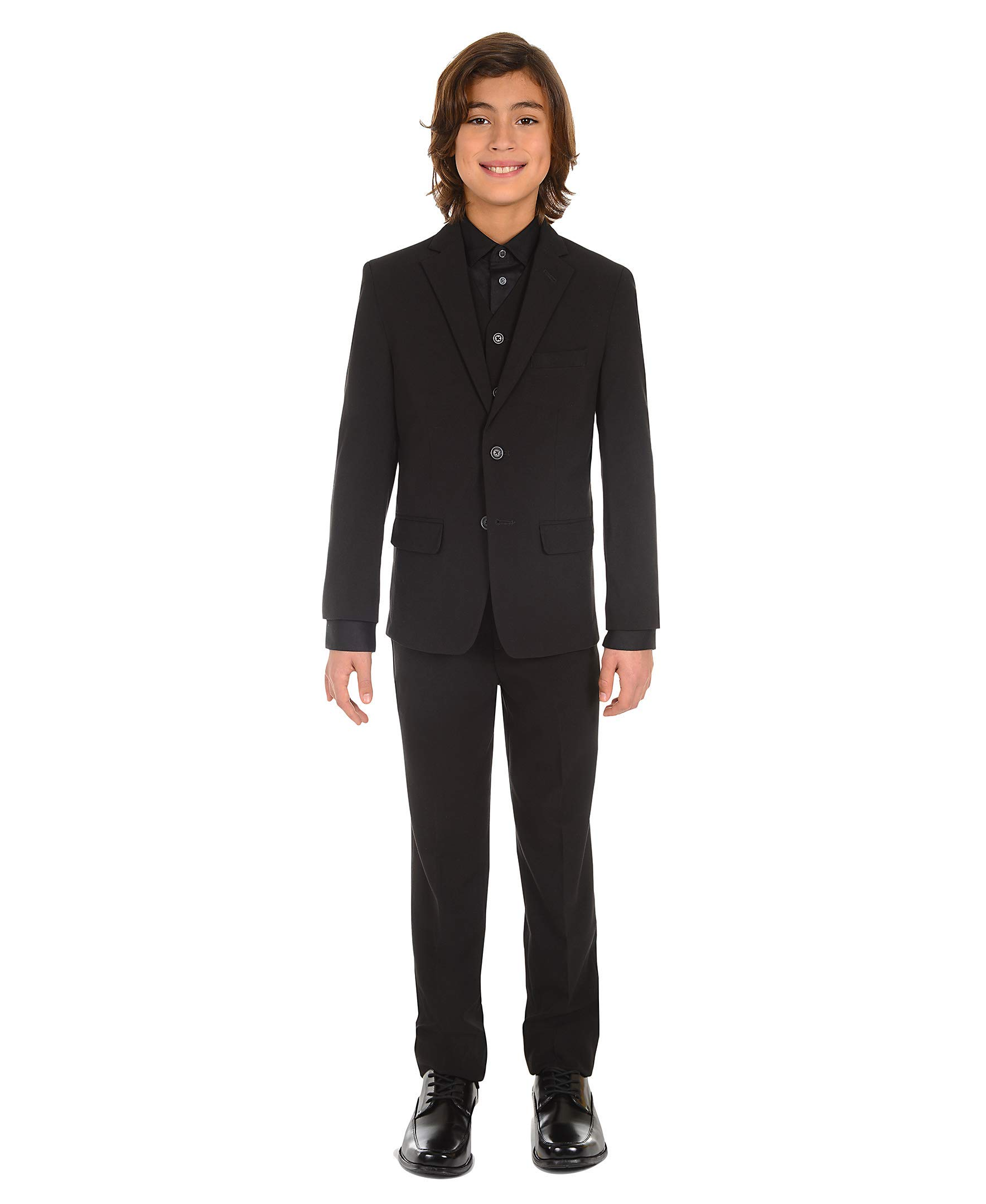 Calvin Klein Dress Up Big Boys' Bi-Stretch Vest, Black, Small by Calvin Klein (Image #5)