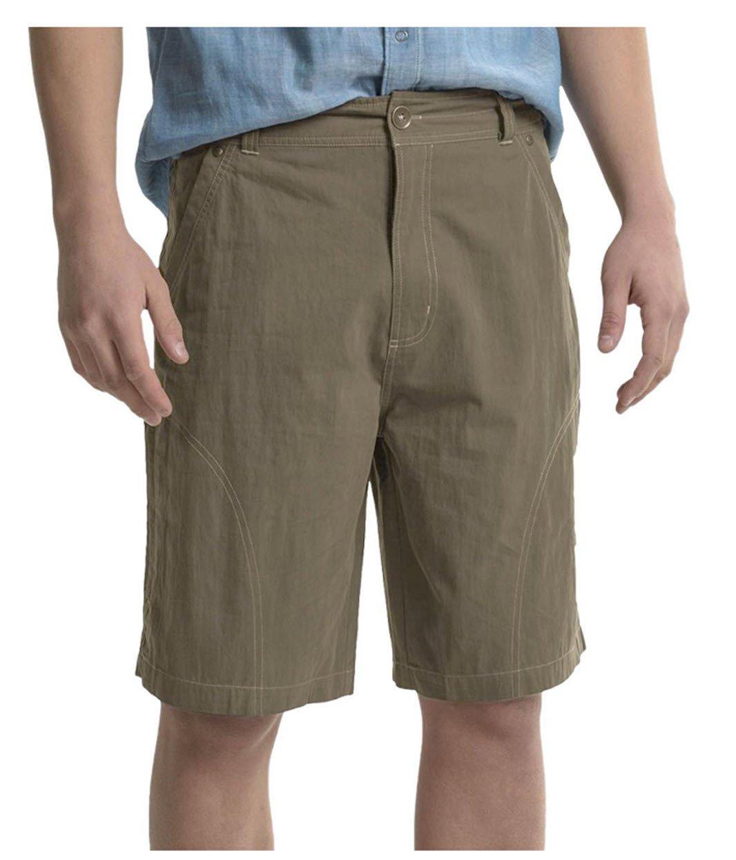 Pacific Trail Men's Cotton-Nylon Shorts, Sand, Size 42