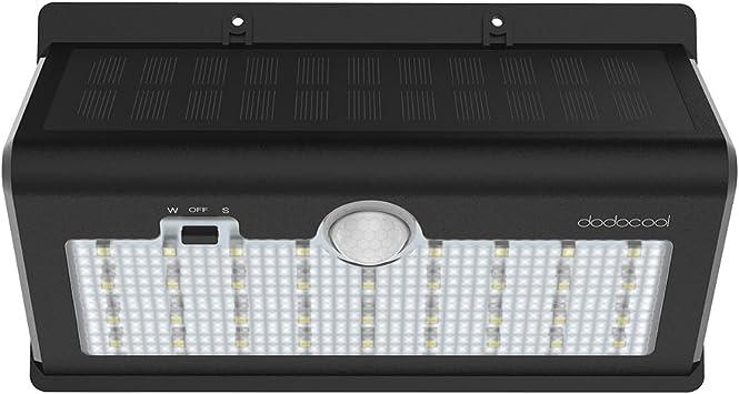 dodocool Focos Solares Exterior, 26 LED 520 LM 6500K Lámpara ...