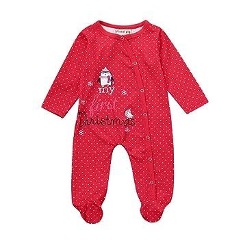 Juego de ropa de bebé, ppbuy bebé recién nacido Niñas Niños Carta Dot Print Pelele Mono Ropa: Amazon.es: Oficina y papelería