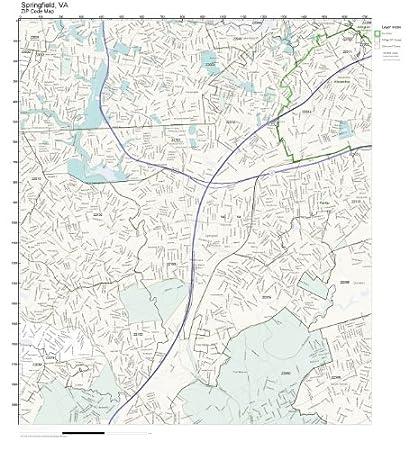 Springfield Va Zip Code Map.Amazon Com Zip Code Wall Map Of Springfield Va Zip Code Map