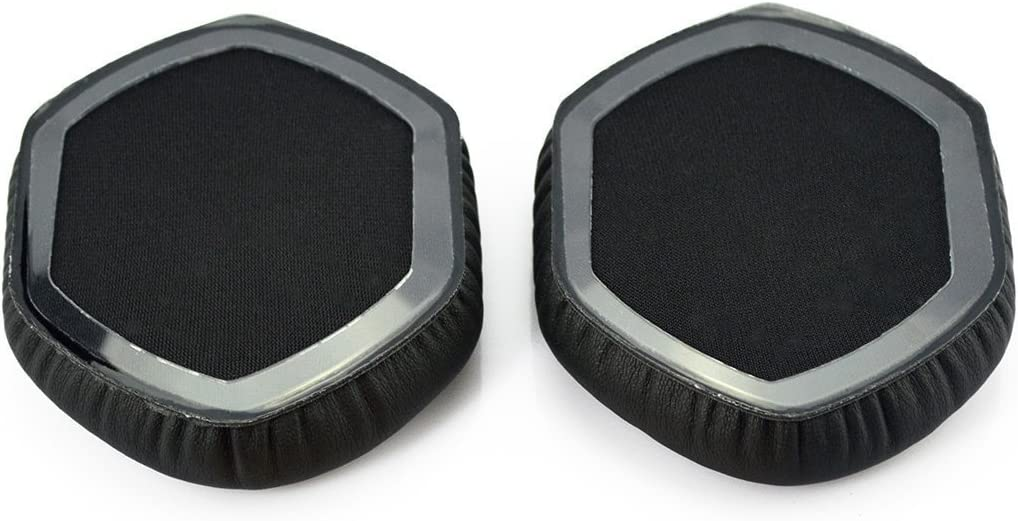 LP M-100 VEVER Black Replacement XL Memory Ear Pads Earpad Cushion Replacement for V-Moda Crossfade Wireless with VEVER Logo Package LP2 Vocal Over-Ear Headphones