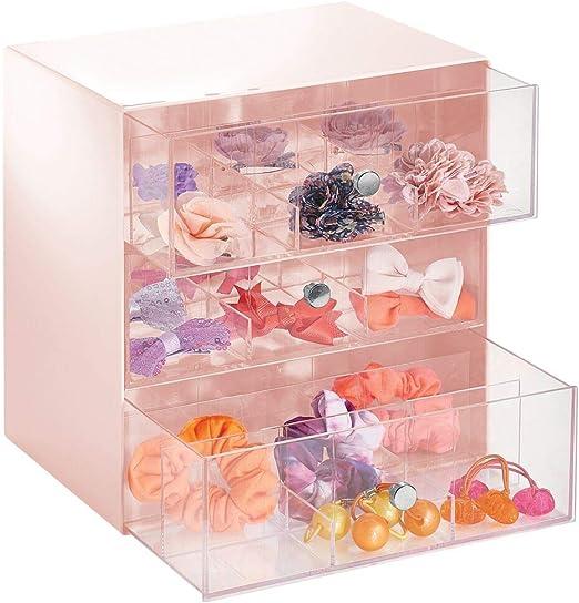 mDesign Organizador de maquillaje, discos de algodón, accesorios ...