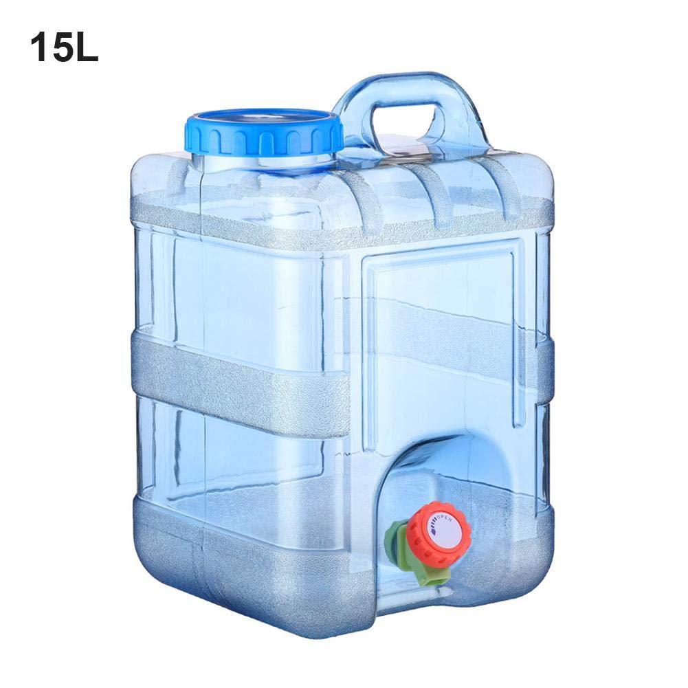 Gorgeousy Recipiente de Almacenamiento de Agua de 15 litros con Tapa Tapa de Agua Pura Cubo de pl/ástico Viaje en Auto sin Conductor con Grifo Barril de Agua Mineral