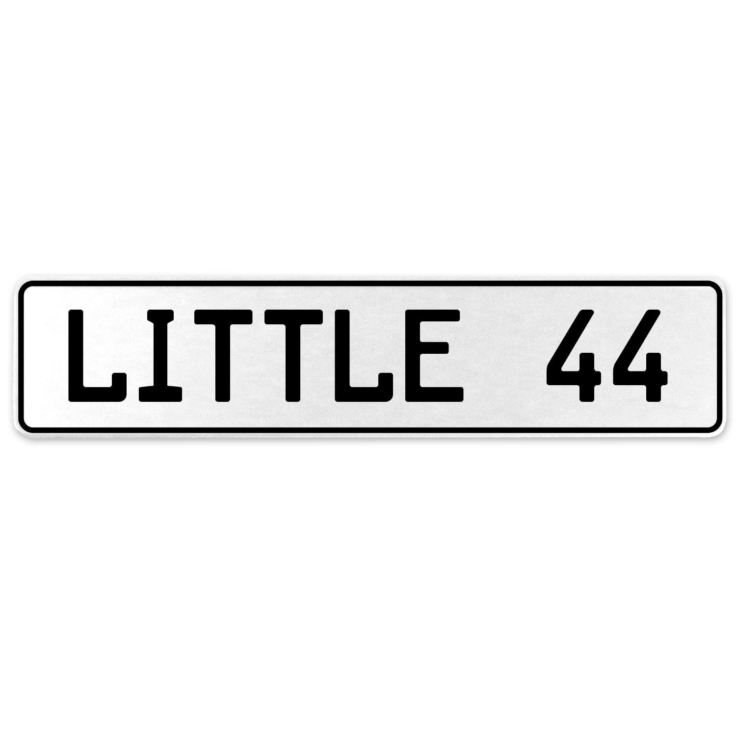 Vintage Parts 556324 Little 44 White Stamped Aluminum European License Plate