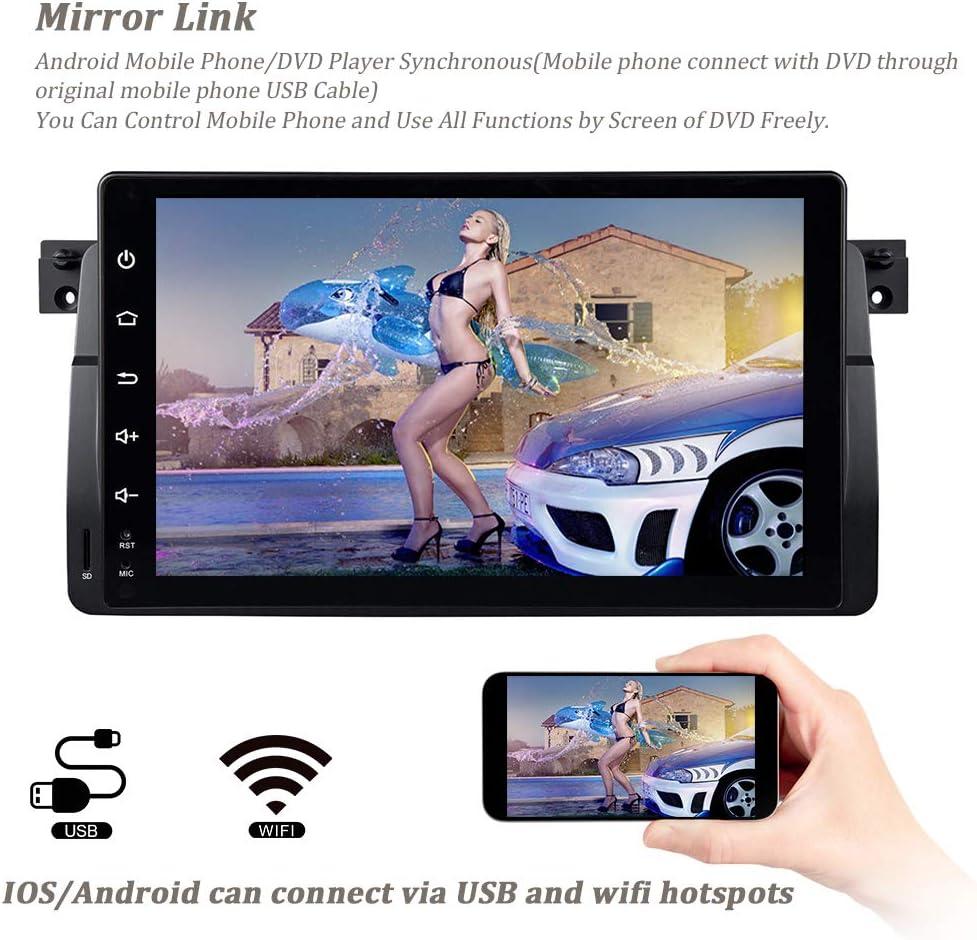 2+80G 9 Zoll Android 10 Quad Core Autoradio Doppel Din Radio mit Navi f/ür BMW E46 M3 Rover 75 MG ZT Sedan Unterst/ützung AHD R/ückfahrkamera GPS Navi Radio Audio Video Bluetooth AM PM WIFI SWC DSP DAB+