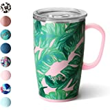 Swig Life Stainless Steel Signature 18oz Travel Mug with Spill Resistant Slider Lid in Palm Springs