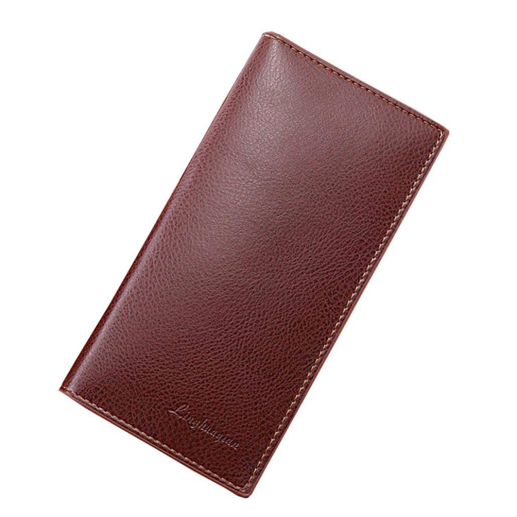 Mens Long Leather Wallet, Leather Focus RFID Blocking Purse Money Clip