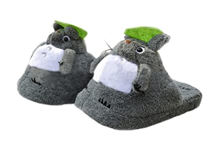 672e32ad1187 Image Unavailable. Image not available for. Color  Totoro Plush SLIPPERS