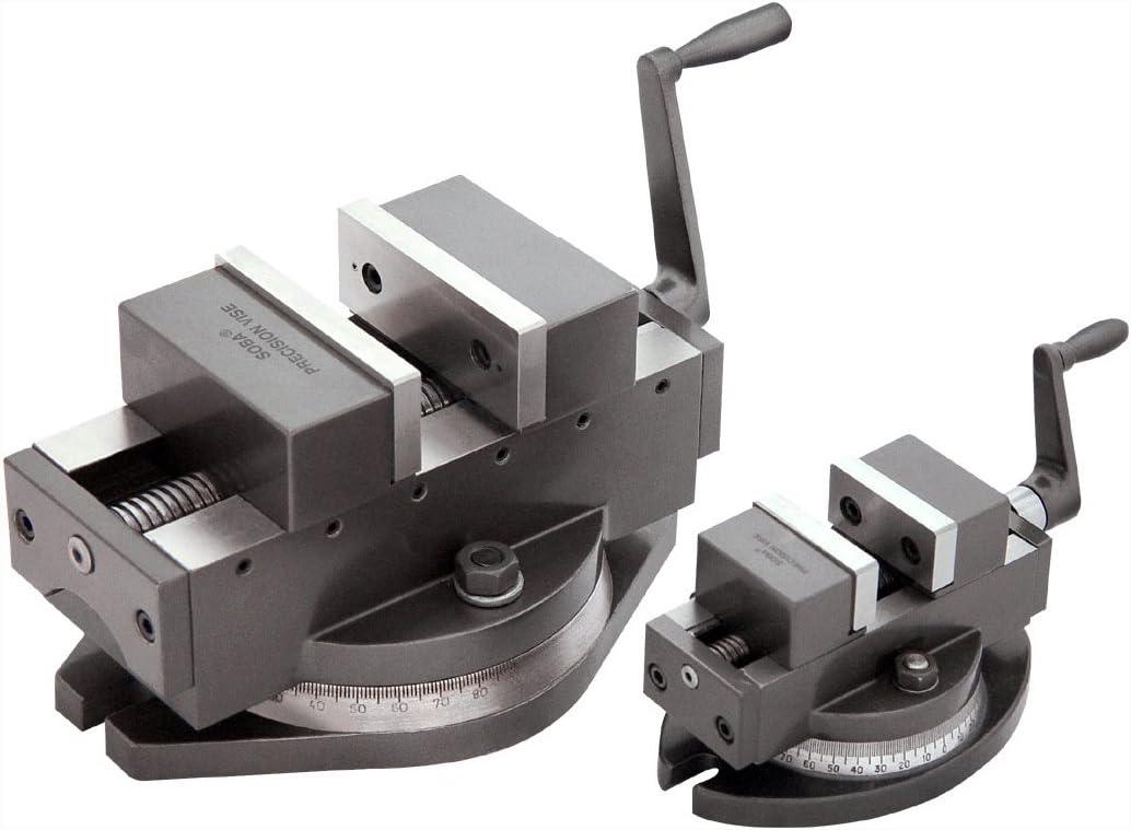 Selbstzentrierender Pr/äzisionsmaschinenschraubstock 100 mm Breite mit Drehteller