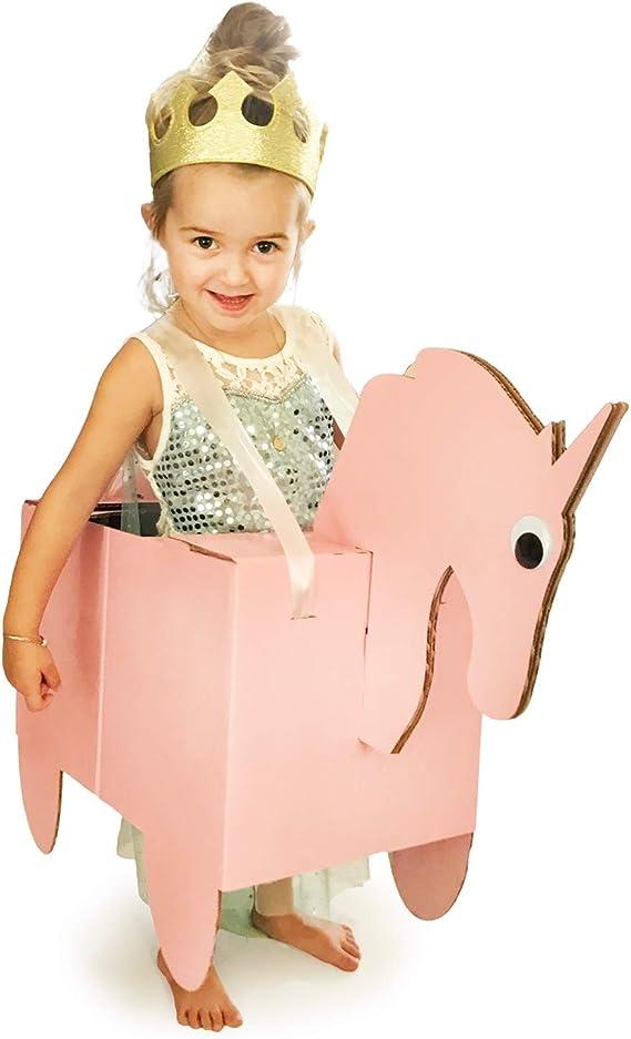 Everything Is Cardboard Disfraz de Unicornio Sparkles de cartón ...