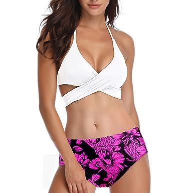bb5d9da6d21dd Amazon.com: Bsjmlxg Summer New Women Fashion Sexy Simple Bikini Set Push-Up  Padded Swimwear Bathing Swimsuit Beachwear: Clothing