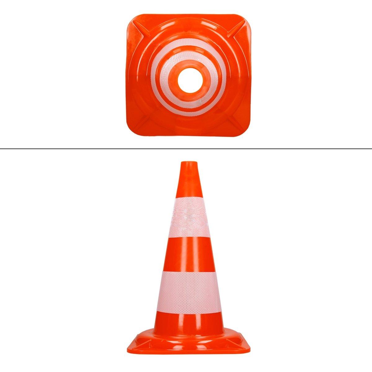 Warnkegel Leitkegel Pylonen Markierungsh/ütchen Verkehrsh/ütchen Kegel Leitkegel orange-wei/ß 47 cm hoch ECD Germany 10 STK Pylone Verkehrsleitkegel